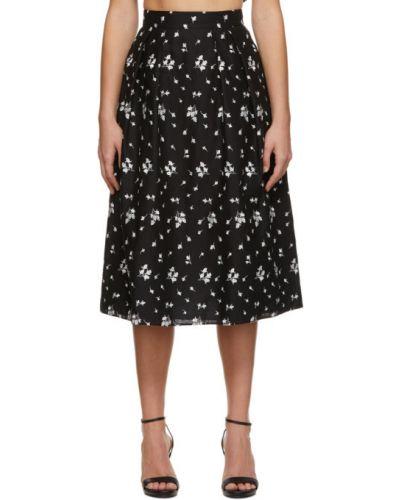Bawełna czarny spódnica z haftem Erdem