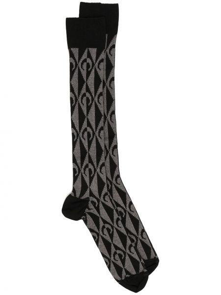 Хлопковые черные носки Marine Serre