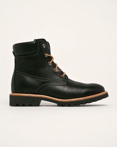 Ботинки на каблуке на шнуровке черные Panama Jack