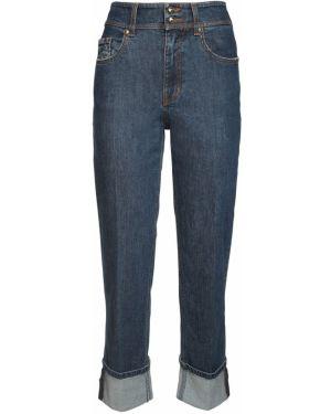 Ватные хлопковые синие прямые джинсы стрейч Versace Jeans Couture
