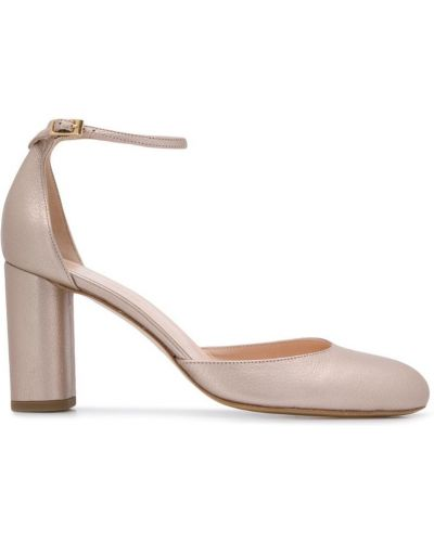 Туфли-лодочки с пряжкой круглые на каблуке Lenora