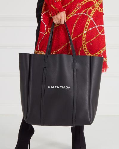 Кожаная сумка большая сумка-тоут Balenciaga