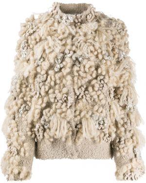 Кашемировый длинный свитер с вырезом круглый Brunello Cucinelli