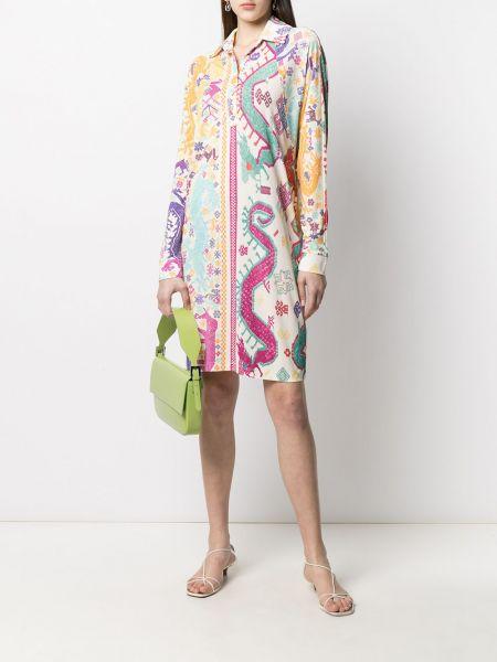 Платье-рубашка с вышивкой с воротником на пуговицах Etro