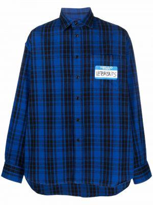 Черная рубашка классическая Vetements