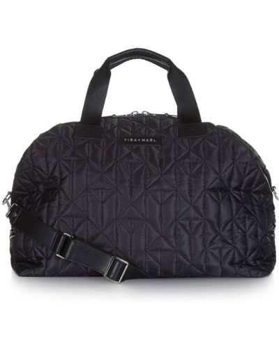 Czarna torebka pikowana z nylonu Tiba + Marl