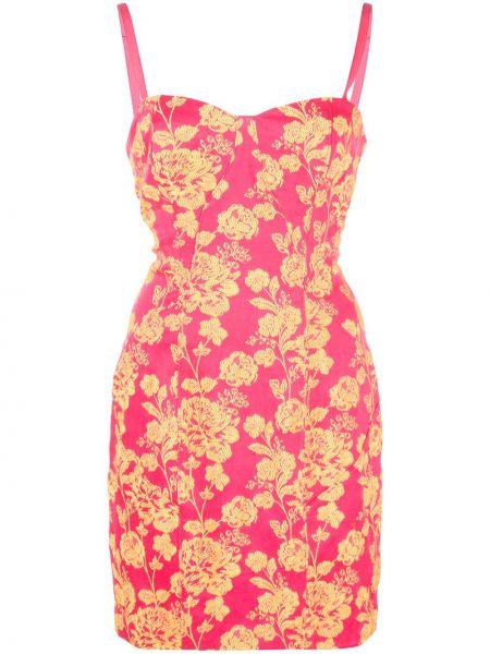 Прямое приталенное розовое платье с вырезом Cinq À Sept