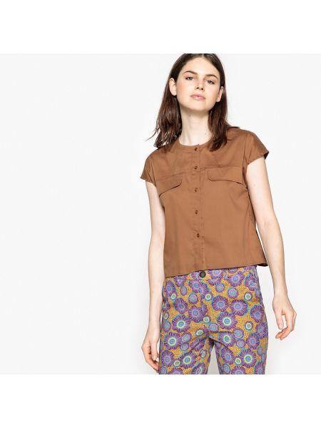 Рубашка с коротким рукавом приталенная без рукавов La Redoute Collections