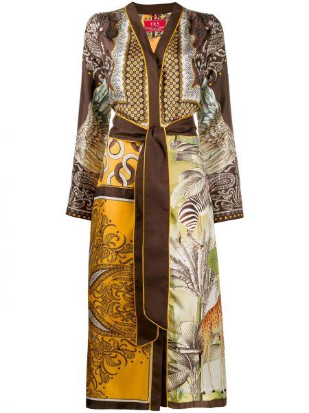 Платье миди с V-образным вырезом кимоно F.r.s. For Restless Sleepers