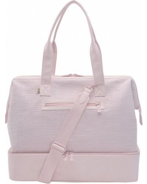 Różowa torebka skórzana na rzepy Beis