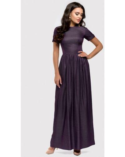 Повседневное платье весеннее фиолетовый 1001dress