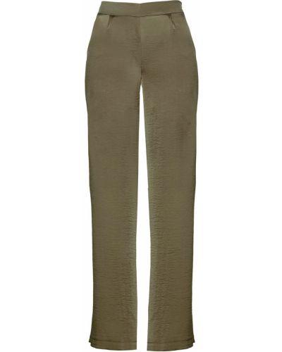 Свободные брюки зеленый хаки Bonprix