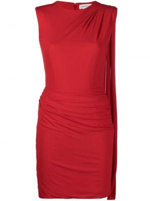 Приталенное красное платье мини без рукавов Alexander Mcqueen