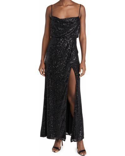 Черное платье с подкладкой на крючках Fame And Partners