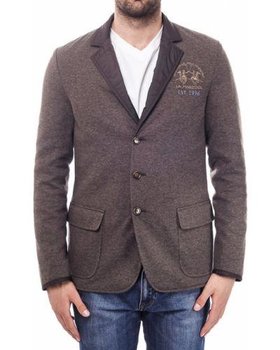 Пиджак акриловый коричневый La Martina