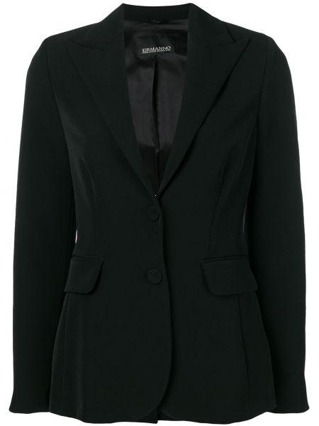 Черный пиджак с манжетами Ermanno Ermanno