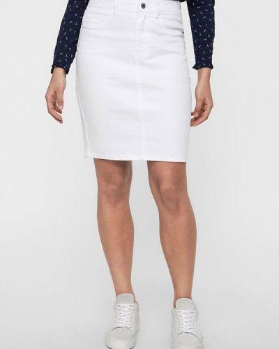 Джинсовая юбка белая весенняя Vero Moda
