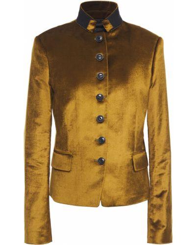 Зеленая бархатная ватная куртка Rag & Bone