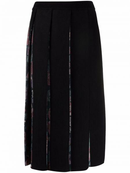 Черная плиссированная юбка Antonio Marras