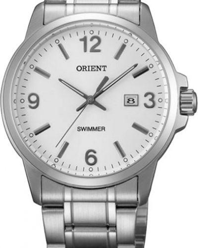 Часы водонепроницаемые белые серебряный Orient