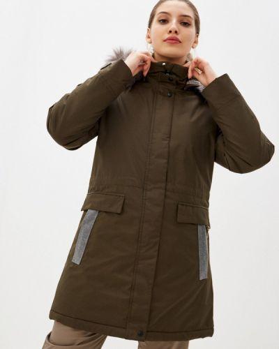 Зеленая утепленная куртка Torstai
