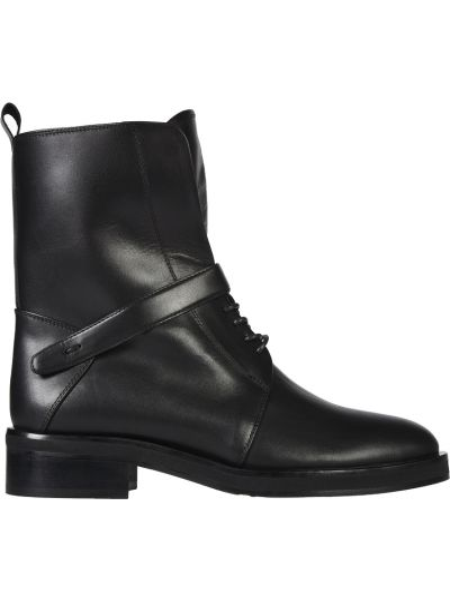 Кожаные ботинки осенние на каблуке Helena Soretti