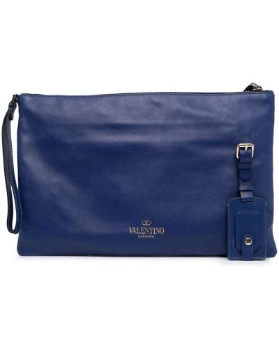 Kopertówka srebrna - niebieska Valentino Garavani Pre-owned