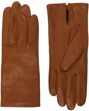 Шелковые кожаные перчатки Agnelle