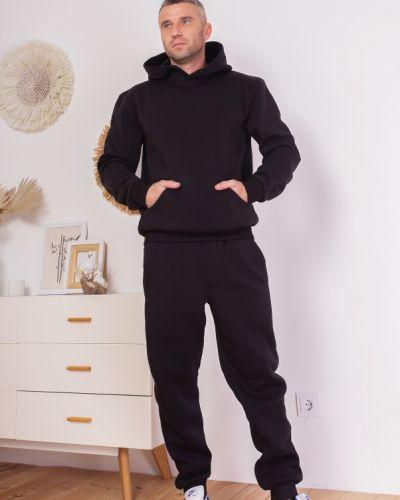 Теплый спортивный костюм - черный Issa Plus