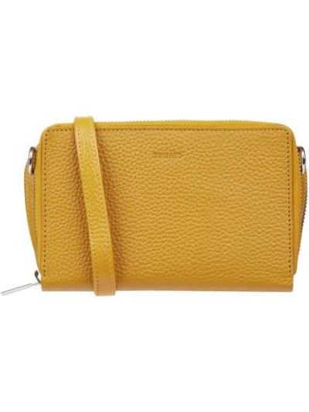 Żółta torba na ramię skórzana Treats