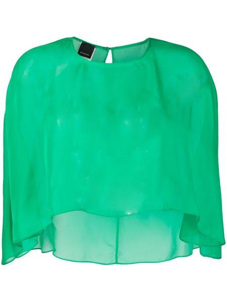 Zielony top asymetryczny Pinko