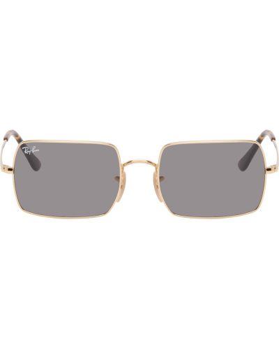 Klasyczne białe złote okulary Ray-ban