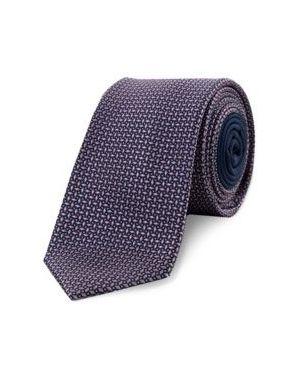 Różowy krawat z jedwabiu Tommy Hilfiger Tailored