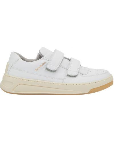 Белые кроссовки из полиуретана Acne Studios