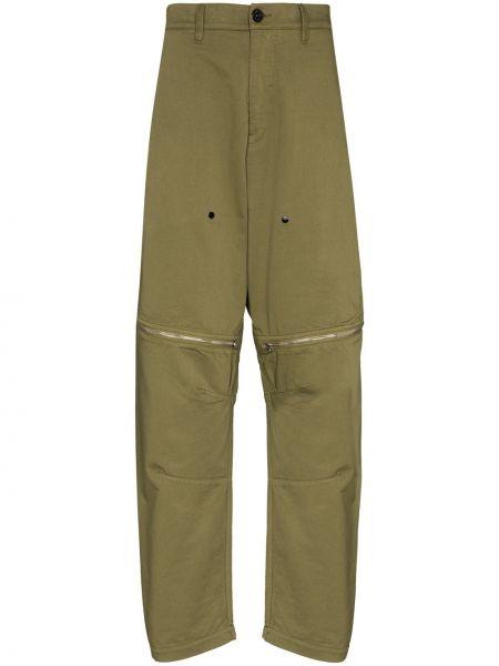 Zielone spodnie z paskiem bawełniane Stone Island Shadow Project