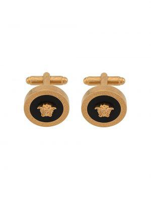 Запонки золотые металлические Versace
