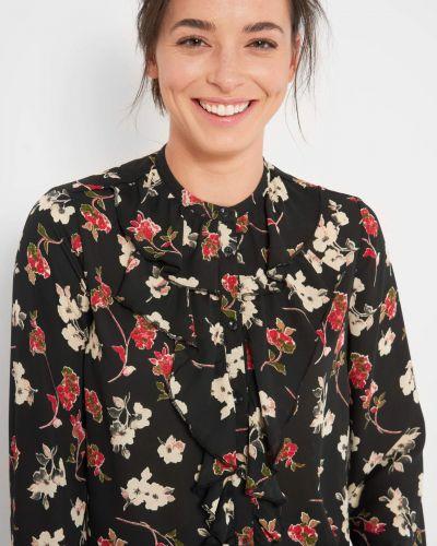 Z rękawami czarny bluzka z falbankami Orsay