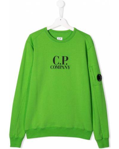 Толстовка зеленый Cp Company Kids