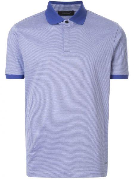 Синяя классическая классическая рубашка с манжетами на пуговицах D'urban
