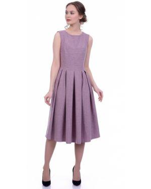 Платье миди с V-образным вырезом Lautus