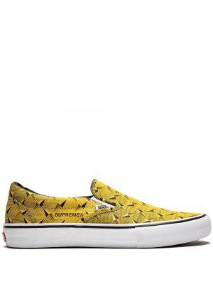 Żółty slipony z płótna Vans