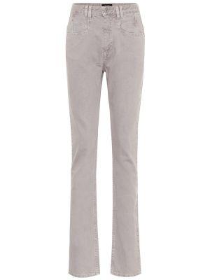 Bawełna prosto bawełna jeansy na wysokości Isabel Marant