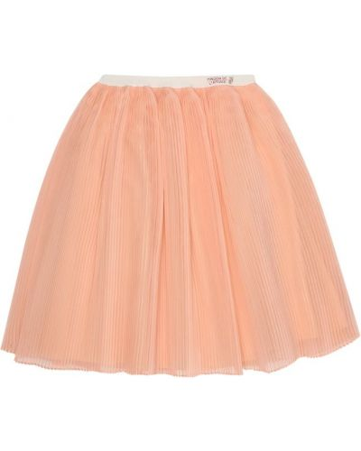 Шелковая розовая юбка Gucci Kids