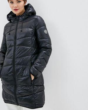 Утепленная куртка демисезонная черная Dkny