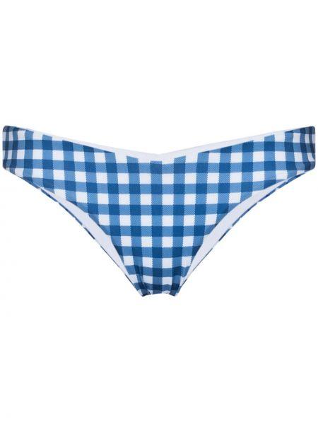 Пляжные с завышенной талией синие бикини с подкладкой Silvia Tcherassi