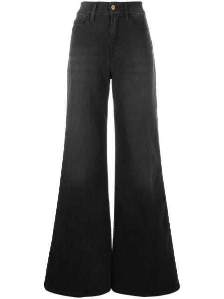 Расклешенные серые джинсы классические стрейч Frame