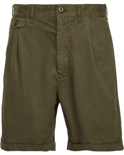 Хлопковые шорты-чиносы милитари с карманами Alex Mill