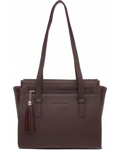 Кожаная сумка с кисточками вечерняя Lakestone