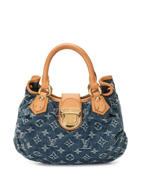 Кожаная сумка с ручками винтажная круглая Louis Vuitton