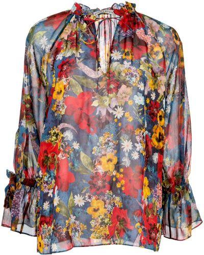 Блузка с цветочным принтом прозрачная Alice+olivia